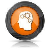 Brain icon — Foto de Stock