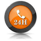 24H phone icon — Foto Stock