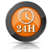 24H clock icon — Foto Stock