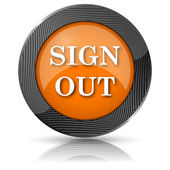 Sign out icon — Stockfoto