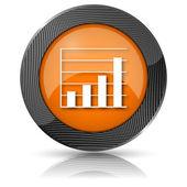 Chart bars icon — Foto de Stock
