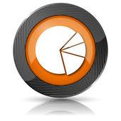 Wykres kołowy ikona — Zdjęcie stockowe