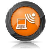 无线便携式计算机图标 — 图库照片
