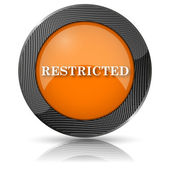 Restricted icon — Stockfoto