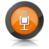 Microfoon pictogram — Stockfoto