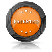 ícone patenteado — Foto Stock