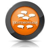 Testimonials icon — Stock Photo
