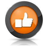 Tummen upp ikonen — Stockfoto