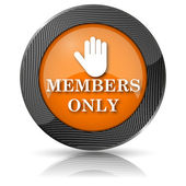 Members only icon — Stock Photo