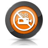 Verbotene video-kamera-symbol — Stockfoto