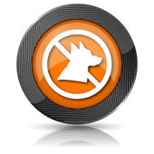 Forbidden dogs icon — Stock fotografie