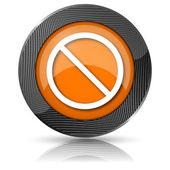 Förbjudna ikonen — Stockfoto
