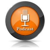 Podcast icon — Stock Photo