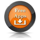 Darmowe aplikacje ikona — Zdjęcie stockowe