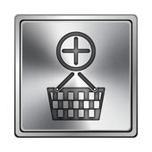 Aggiungere icona cestino — Foto Stock