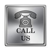Chiamaci icona — Foto Stock