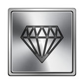 Icono de diamante — Foto de Stock