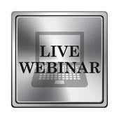 Live webinar icon — Foto Stock