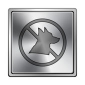 Zakázané psi ikona — Stock fotografie