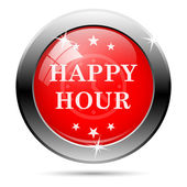 Happy hour-pictogram — Stockfoto