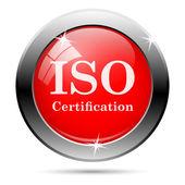 значок сертификации iso — Стоковое фото