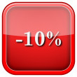 Stock Photo: 10 percent discount icon