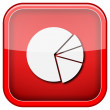 Chart pie icon — Stockfoto #36859467