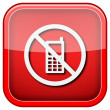 Mobile phone restricted icon — Stock fotografie #36859573