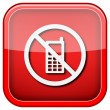 Mobile phone restricted icon — Zdjęcie stockowe #36859573