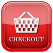 Checkout icon — Stockfoto