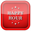 Happy hour icon — Stock Photo