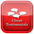Client testimonials icon — Stock Photo