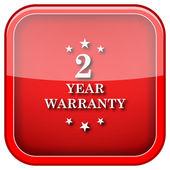 2 jaar garantie pictogram — Stockfoto