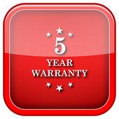 Icono de garantía 5 años — Foto de Stock