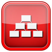 Organizational chart icon — Stockfoto