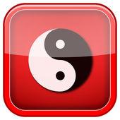 Icône d'ying yang — Photo