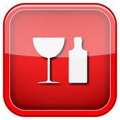 Pictogram fles en glas — Stockfoto