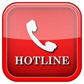 Hotline pictogram — Stockfoto