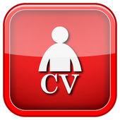 CV icon — Fotografia Stock