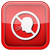 No talking icon — Stock Photo