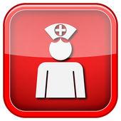 Hemşire simgesi — Stok fotoğraf