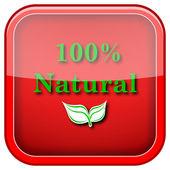 Icono natural 100 — Foto de Stock