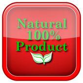 Yüzde 100 doğal ürün simgesi — Stok fotoğraf
