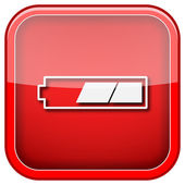 2 thirds charged battery icon — Stock Photo