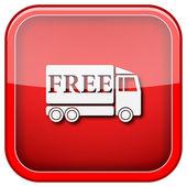 ücretsiz teslimat kamyonu simgesi — Stok fotoğraf
