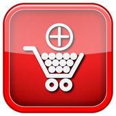 Ajouter à l'icône de panier shopping — Photo