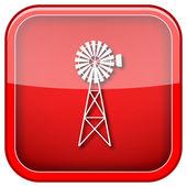 Icono clásico molino de viento — Foto de Stock