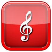 Icône de la note de musique — Photo