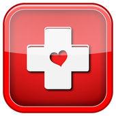 Croix avec l'icône du cœur — Photo