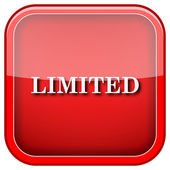 Limited icon — Stock Photo